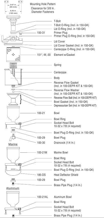 компоненты baldwin dahl 150 серии